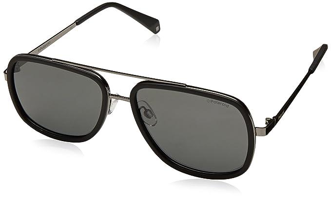 Polaroid Damen Sonnenbrille » PLD 4057/S«, schwarz, 2O5/M9 - schwarz/grau