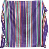 Eccbox 84 X 59 Inch Large Mexican Serape Blanket with Assorted Bright Colors Mexican Tablecloth for Mexican Wedding…