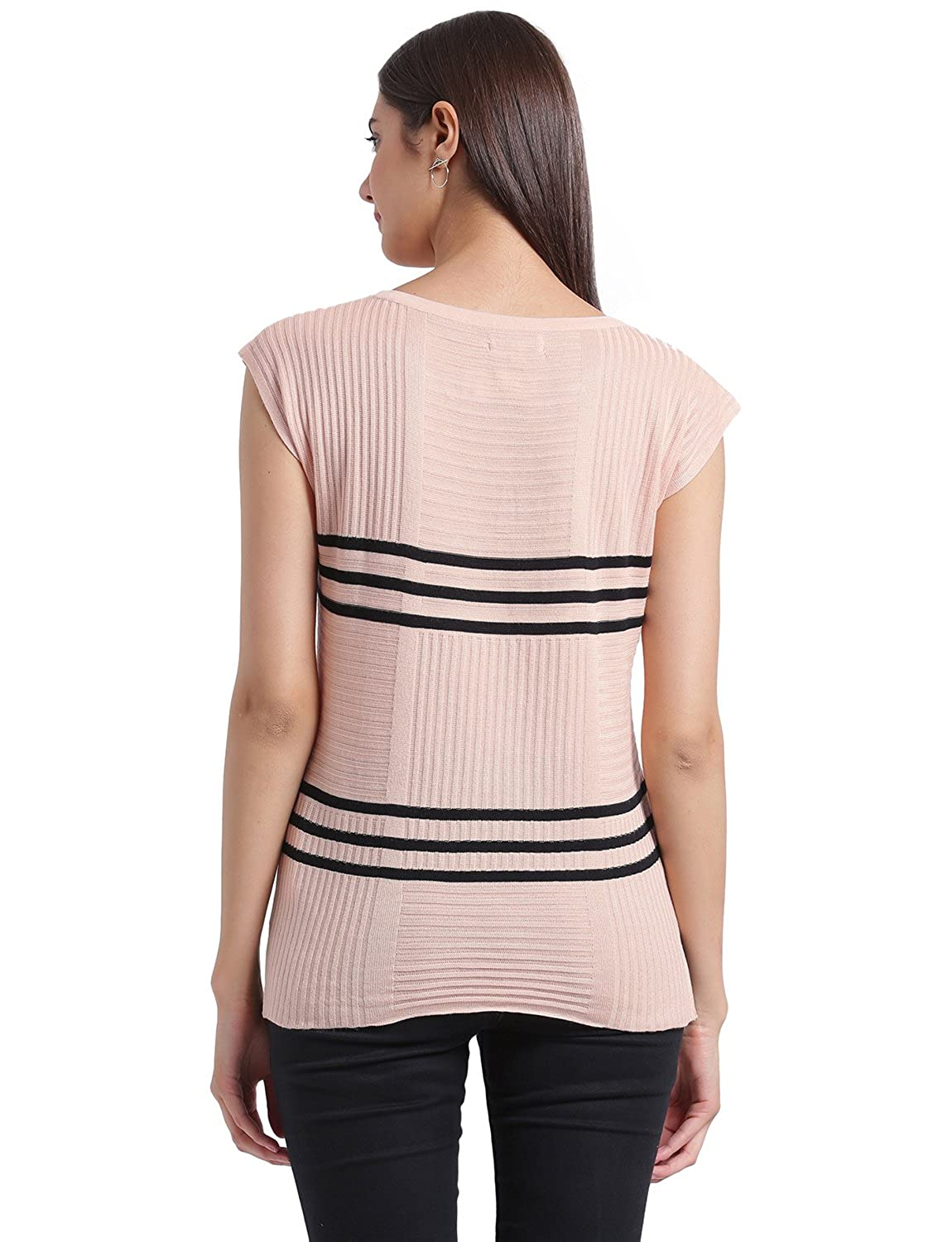 8ddaaf79d2 MANOLA Tops for Women in Western wear - Cotton Blend Material - Solid  Pullover Tshirt for Ladies - Women s Peach Short Sleeves Top - Stylish Tops  by for ...