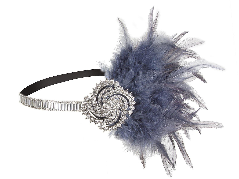 Vijiv 20s Headpiece Jewelry Vintage 1920s Flapper Headband Great Gatsby Wedding Accessories
