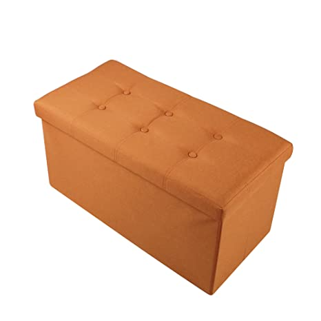 Soges 30u0026quot;x15u0026quot; Folding Storage Ottoman, Storage Bench Footrest  Seat Toys Collection,