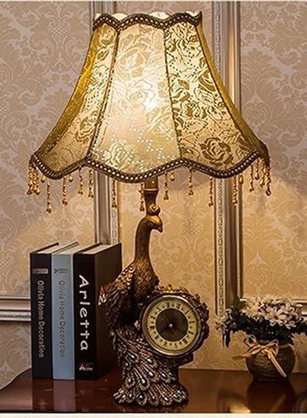PINCHU Lámpara De Mesa De Lujo De Estilo Europeo Lámpara De ...