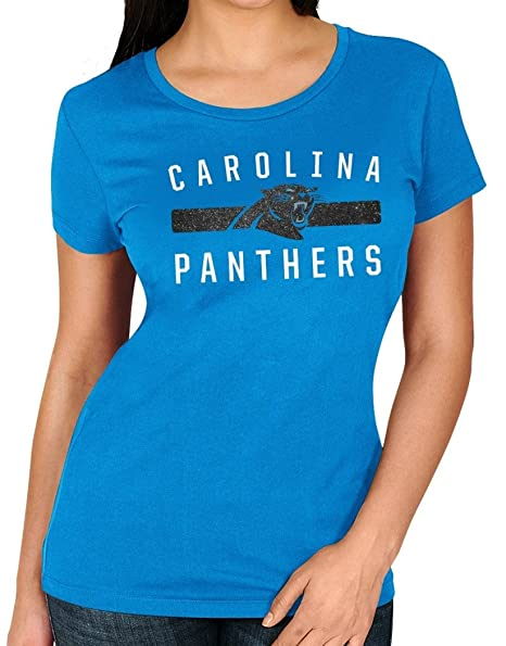 6055e2c7 Amazon.com : Majestic Carolina Panthers Women's NFL Franchise Fit 3 ...