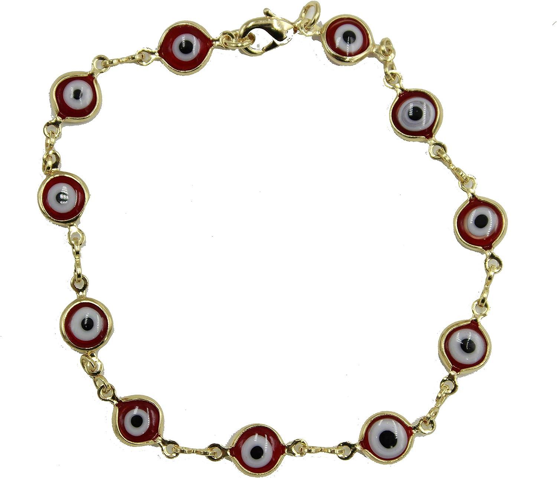 Evil Eye Navy Blue Anklet Diamantados of Florida Evil Eye Anklet 18k Gold Plated Anklet Foot Jewelry Chain