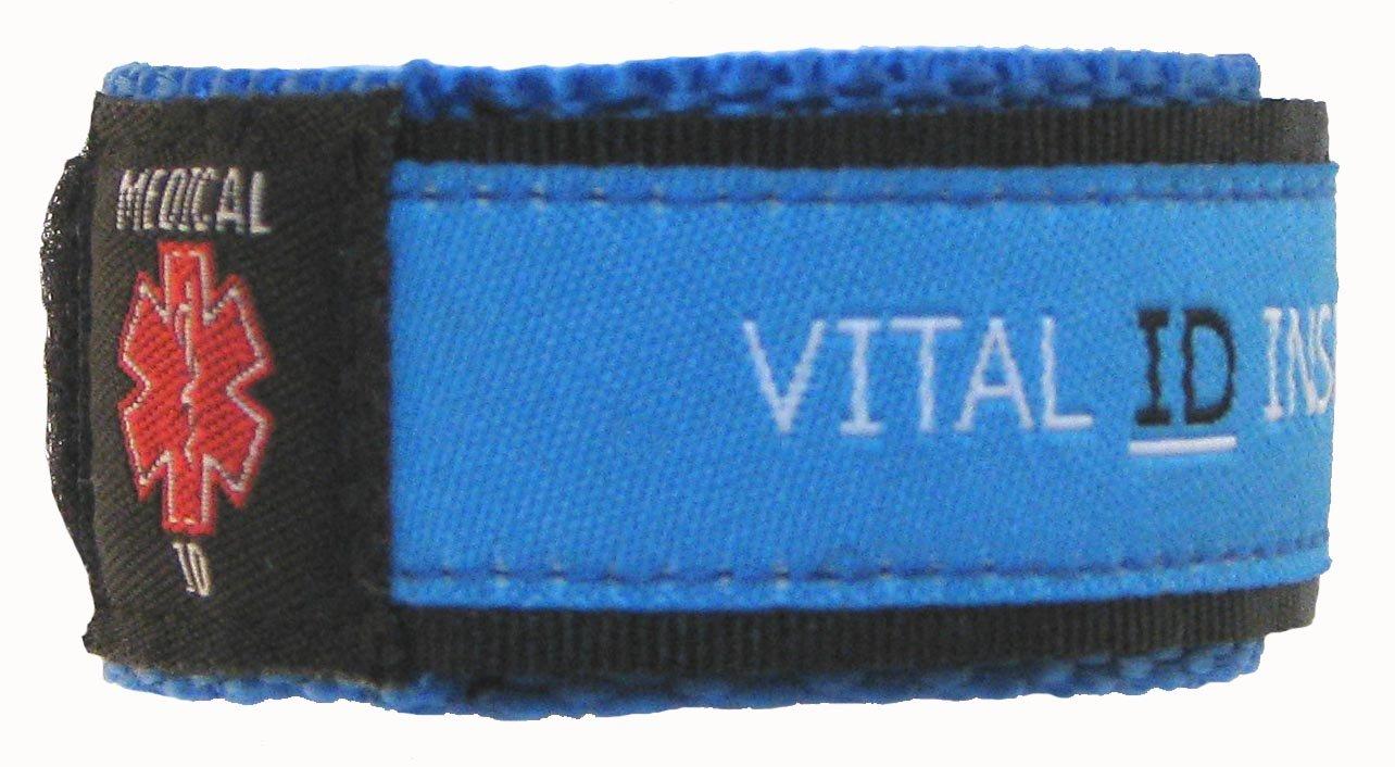 Vital ID Adjustable Medical Bracelet Child (Blue)