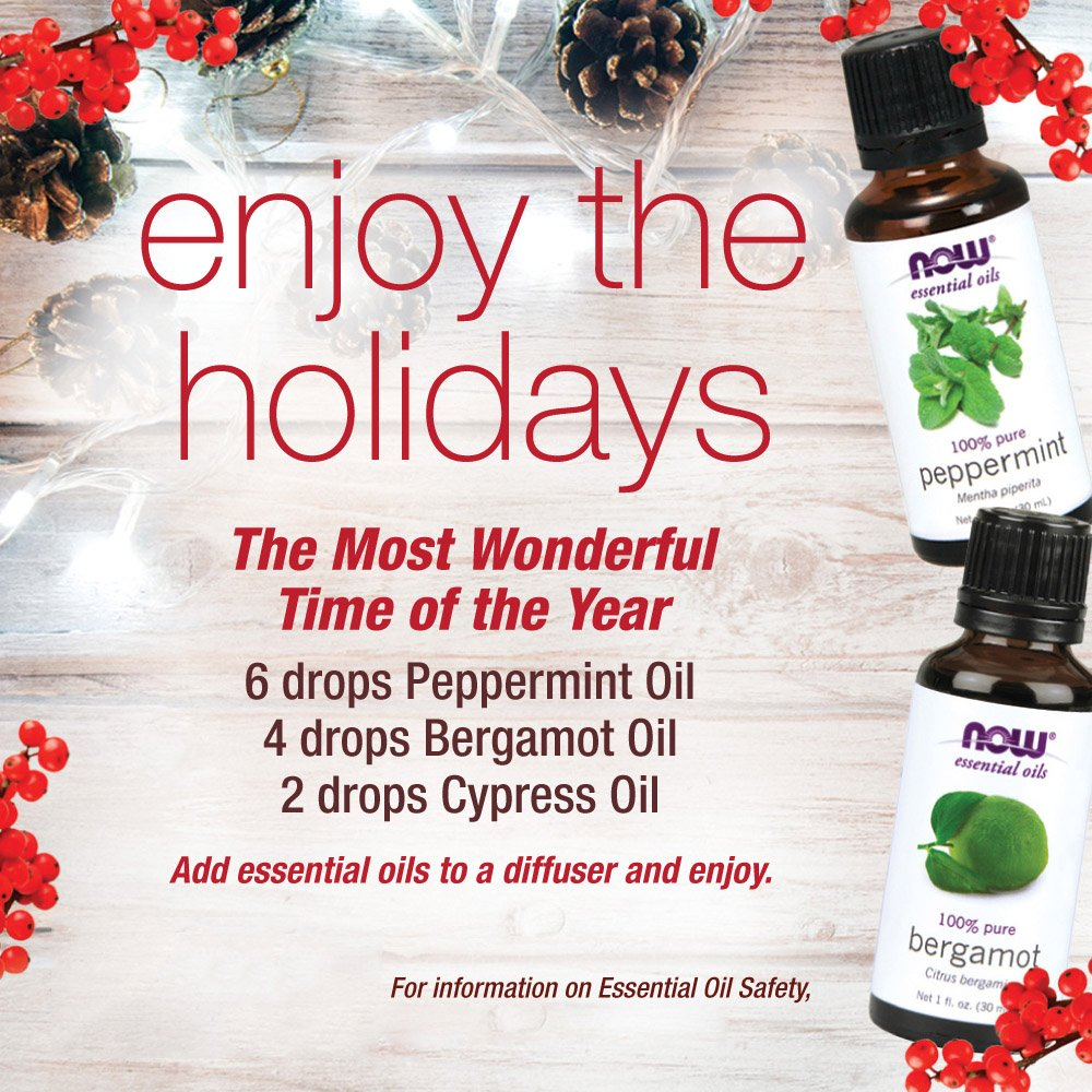 NOW Foods Essential Oils Peppermint -- 4 fl oz (Pack of 2) by NOW Foods