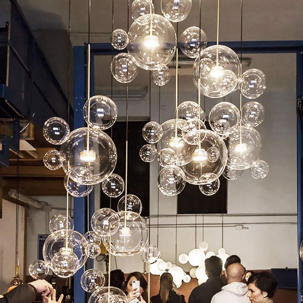 GaLon Nordic Restaurant Bubble Ball LED Kronleuchter Bar Fenster Galerie Wohnzimmer Lampe Kreative Glas Bean Magische Molekulare Kronleuchter Color : 6 Ball