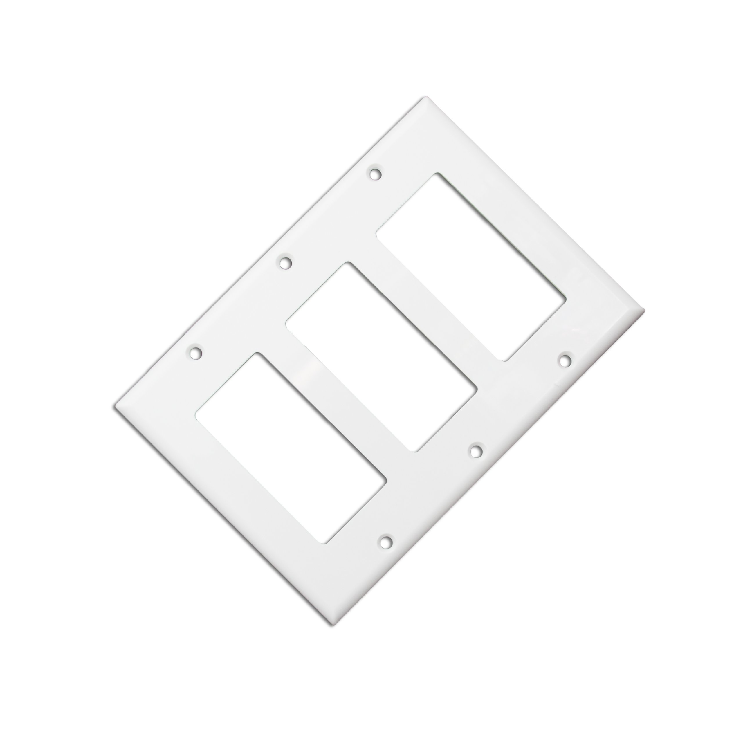 ACL Blank Decora, Triple Gang Wall Plate, White, 50 Pack by ACL