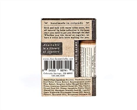 Amazon.com: Lip Balm 3 Pack - Coffee Shop Flavors - Brandy ...