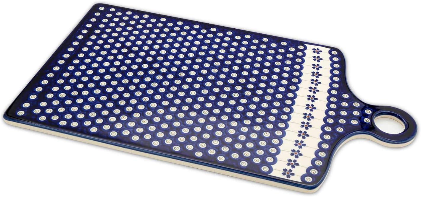 Original Bunzlauer Keramik Schneidebrett Tablett groß rechteckig im Dekor 225