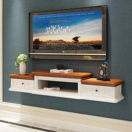 WJHH Retro TV Stand Mesa Sala de Estar Inicio Muebles de Pared Estilo Moderno Panel de Madera Mueble de TV: Amazon.es: Hogar