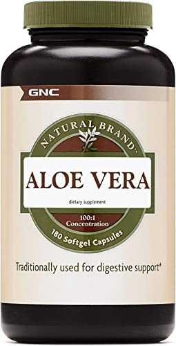 GNC Natural Brand Aloe Vera SoftGel Capsules