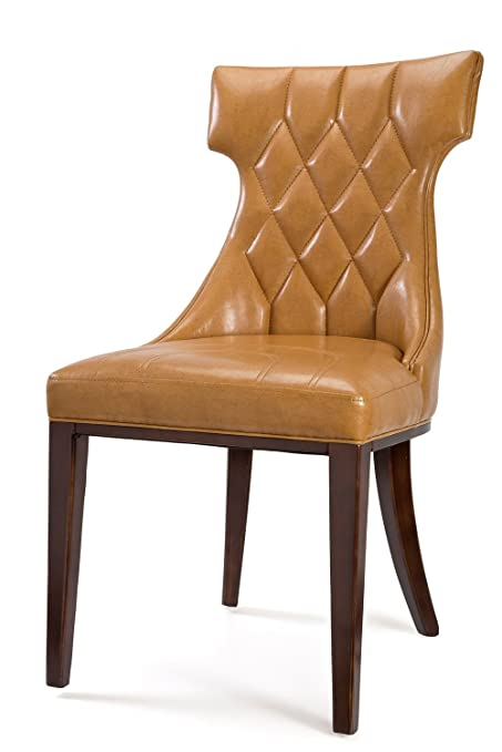 Gentil Amazon.com   International Design USA Regisu0027 Camel Leather Dining Chairs,  Set Of 2   Chairs