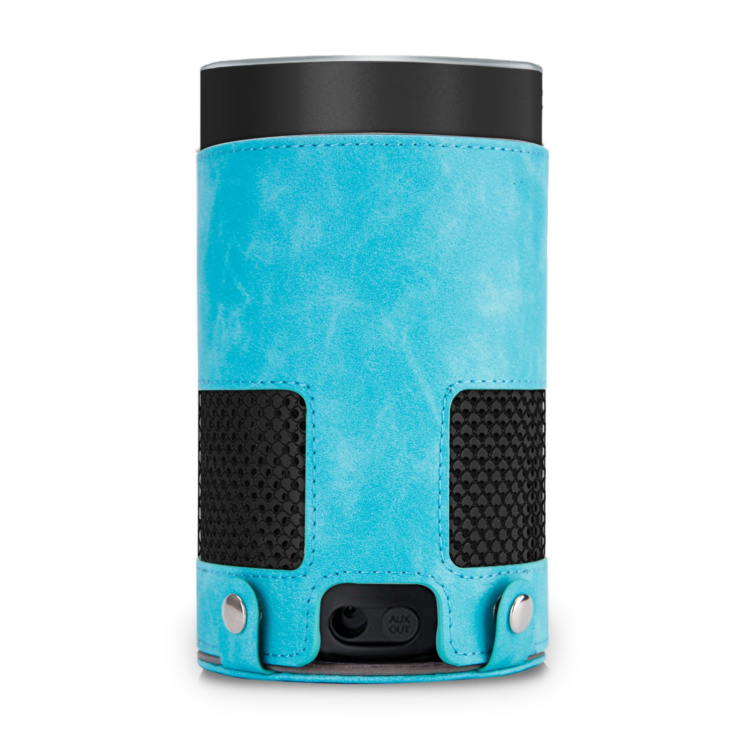 Protective case for Amazon Echo(2nd Generation) portable for outdoors travel,hiking and camping,etc,made of premium polyurethane with mixed styles of being simple,vintage and fashionable (Sky blue)
