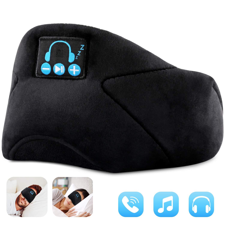 Bluetooth Sleeping Eye Mask Sleep Headphone, Wireless Bluetooth 5.0 Sleep Headphones Built-in Speakers Microphone Handsfree Adjustable Washable, Bluetooth Eye Mask for Sleeping, Travel, Yoga by FYLINA