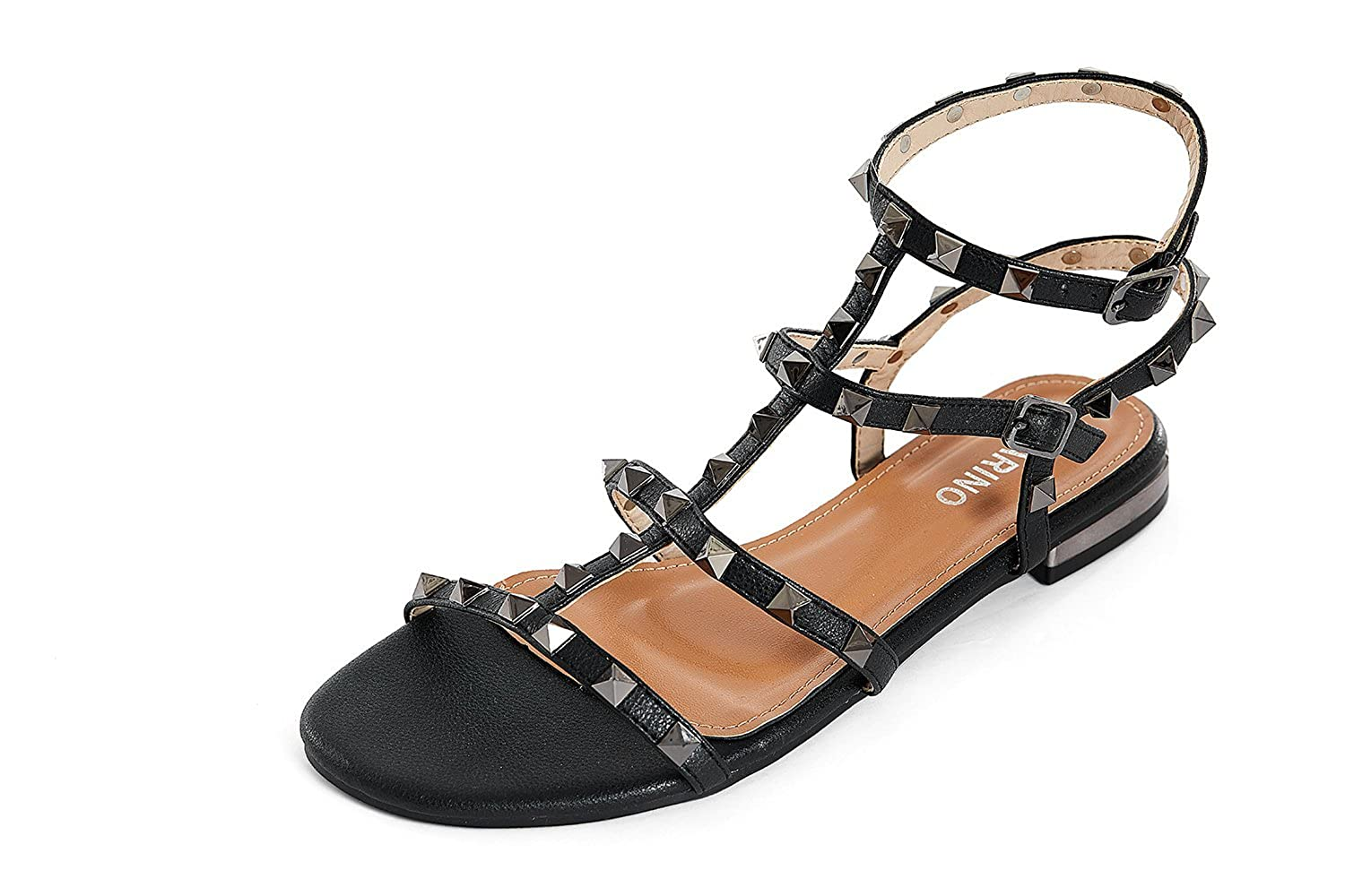 d1ecea3b9e849 MARINO Women's Summer Gladiator Sandals Beach Flat Slippers Elastic Buckle  Casual Outdoor Holiday Comfy Sandals Shoes for Women (Black): Amazon.co.uk:  Shoes ...