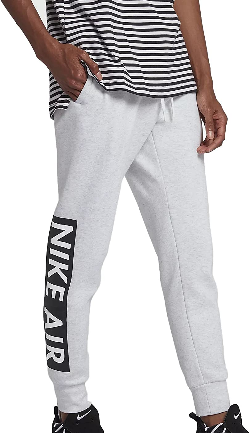 NIKE M NSW Air Pant FLC - Pantalón, Hombre, Multicolor(Birch Heather/White): Amazon.es: Deportes y aire libre