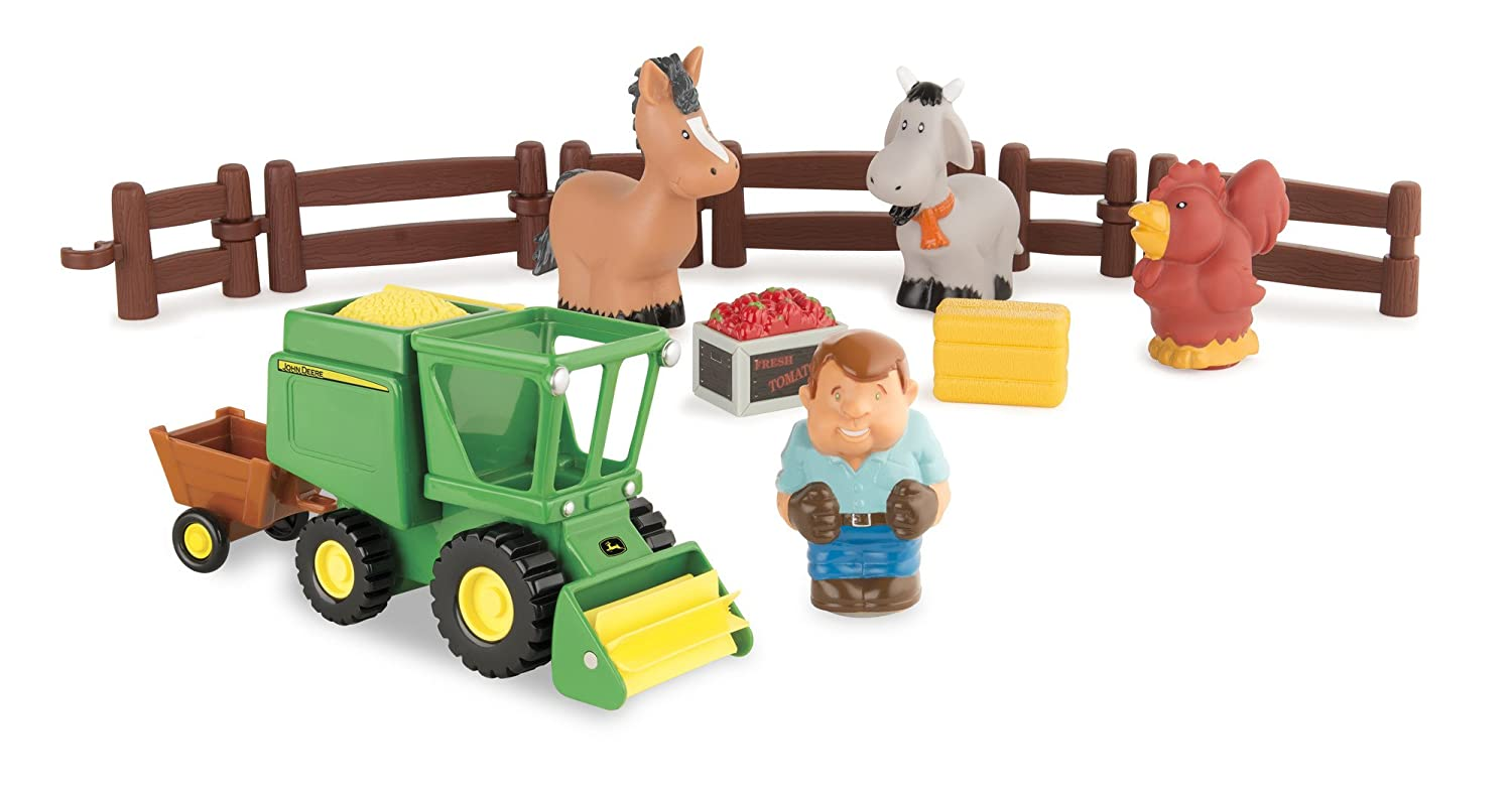 John Deere 1st Farming Fun Harvest Time Preschool Playset Toy TOMY 43069A2