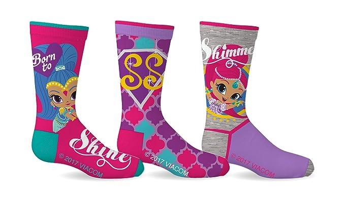 Shimmer & Shine Girls Genies Socks Pack of 3 Clothing