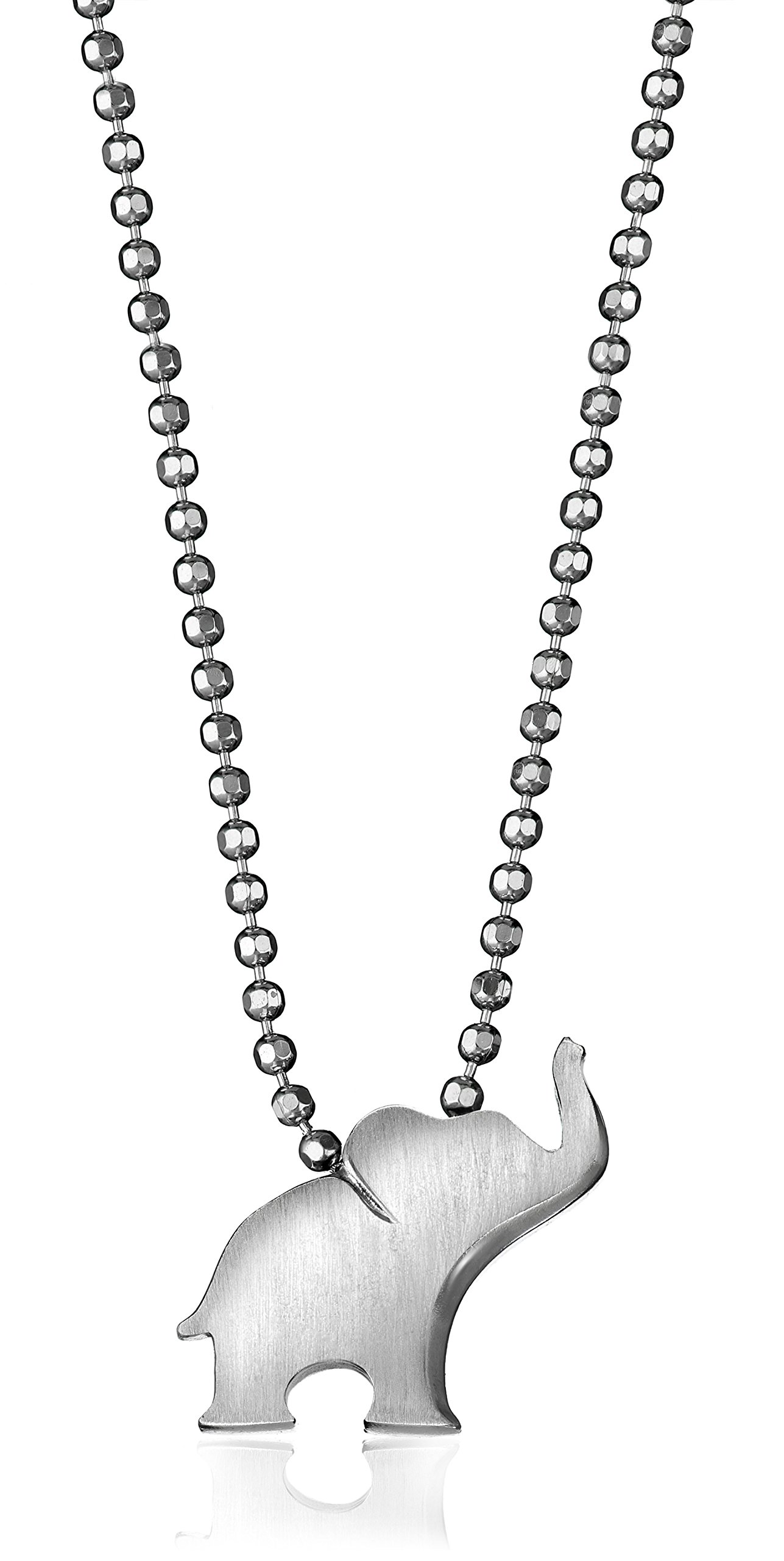 Alex Woo Little Luck Sterling Silver Elephant Pendant Necklace