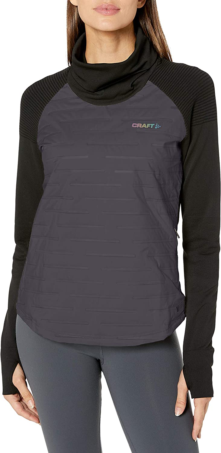 Craft Womens Subz Cold Weather Running Sweat Shirt with Padded Front