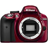 Nikon D3300 SLR-Digitalkamera Kit DX AF-P 18-55 VR rot