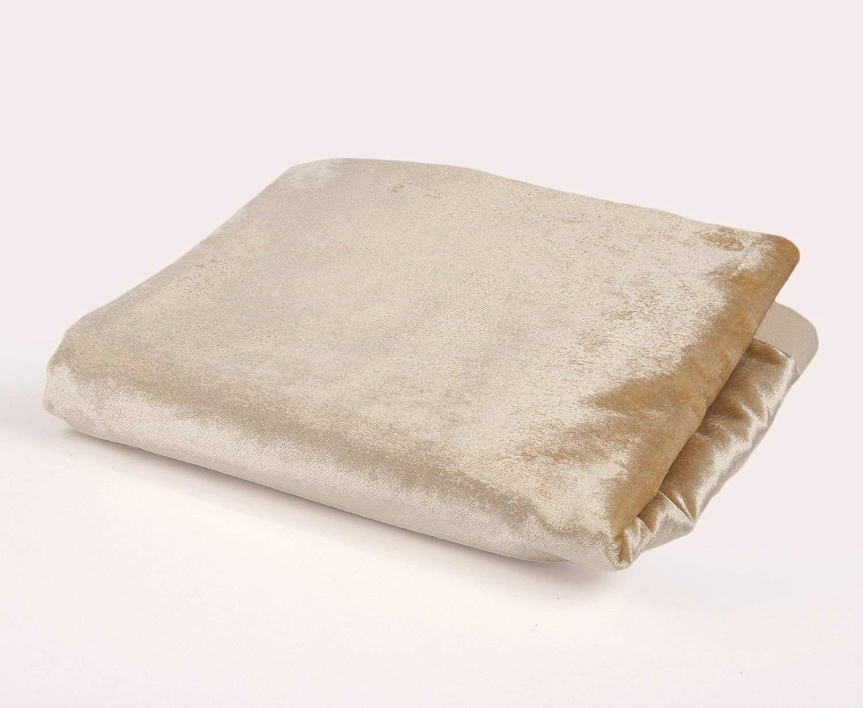 McAlister Textiles - Luxury Kollektion   Glänzender Samt Überwurf 130cm x 200cm in Champagner Gold   Decke für Sofa, Bett, Sessel in luxuriösem Designer Plüsch