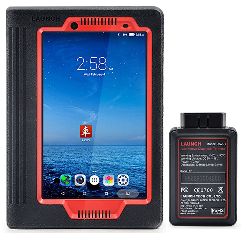 LAUNCH X431 V (X431 PRO) 8inch WiFi/Bluetooth Full System Diagnostic Tool Support Injector Coding and Key Coding, 2 Years Free Update by LAUNCH (Image #1)