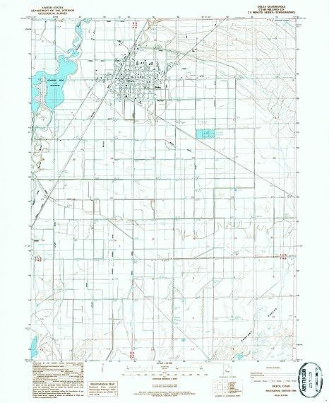 Amazon Com Yellowmaps Delta Ut Topo Map 1 24000 Scale 7 5 X 7 5