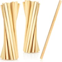 COM-FOUR® 20x bamboe rietje - Biologisch afbreekbare rietjes - Milieuvriendelijke bamboe rietjes - Duurzame drinkbuizen…