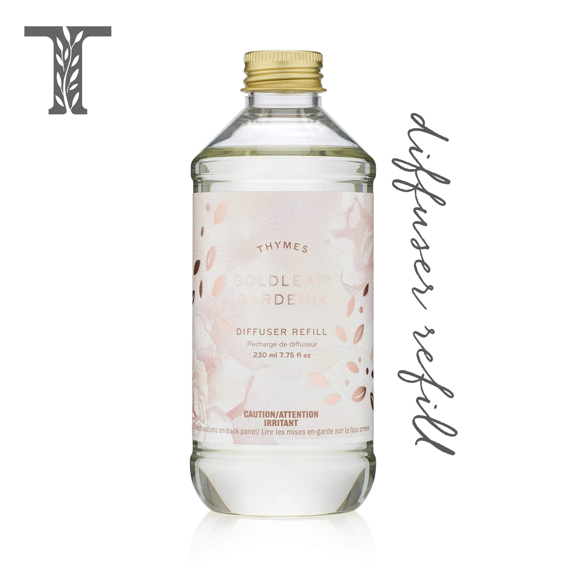 Thymes - Goldleaf Gardenia Aromatic Diffuser Oil Refill - Large Bottle with Floral Magnolia Scent - 7.75 oz by Thymes