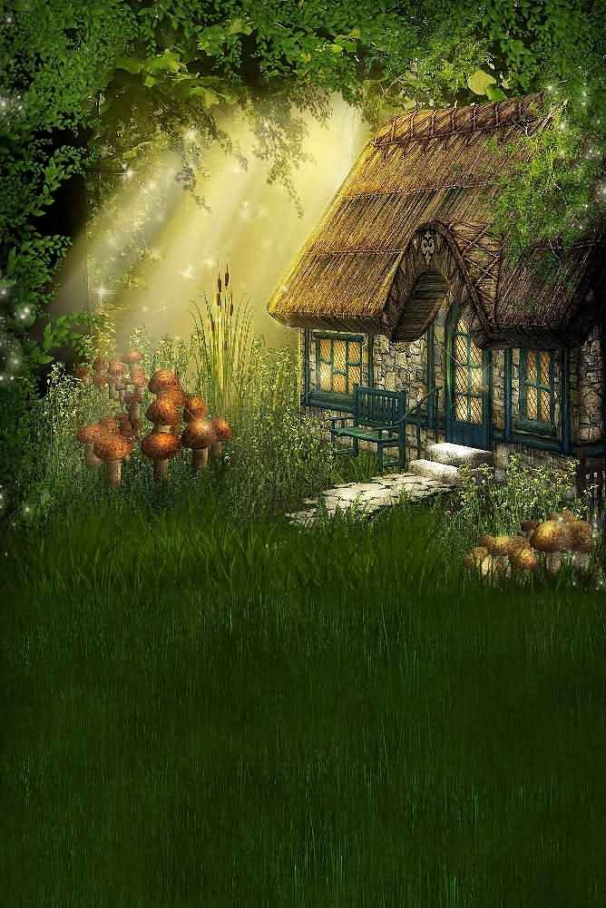 GladsBuy Mysterious Cabin 8' x 12' Digital Printed Photography Backdrop Magic Theme Background YHA-300