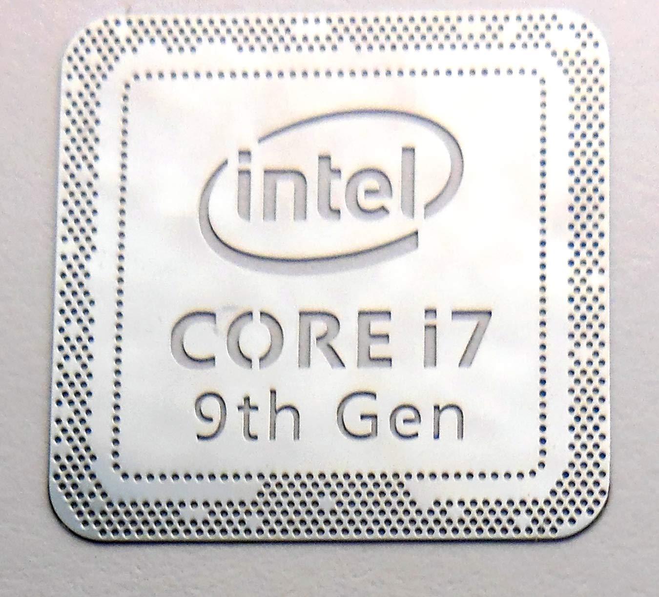"""VATH Made Intel Core i7 9th Generation Metal Sticker 18 x 18mm / 11/16"""" x 11/16"""" [974]"""