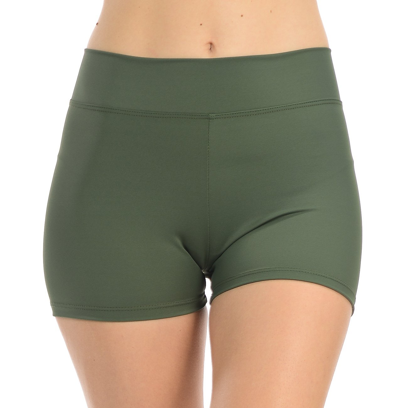 ANZA Girls Active Wear Dance Booty Shorts-Olive,Medium(8/10) by Anza Collection