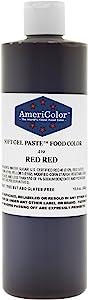 AmeriColor Red Red Soft Gel Paste Food Color, 13.5 oz