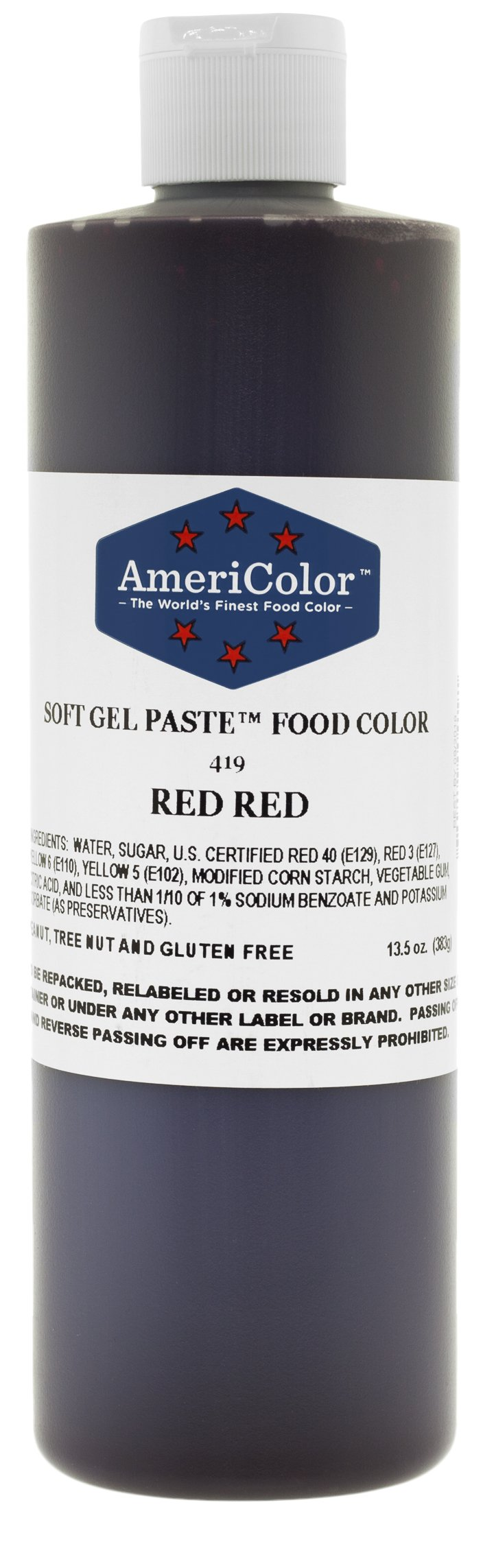 AmeriColor Red Red Soft Gel Paste Food Color, 13.5 oz