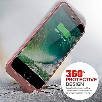 funda con cargador para iPhone 6 Plus//6 S Plus de 5,5 pulgadas Oro Rosa con cargador de bater/ía port/átil recargable Epuirie Funda para iPhone 6 Plus//6S Plus con 6800 mAh de reserva