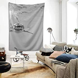 NiYoung Hippie Hippy Bedding Tapestry Great White Sharks Newest Queen Tapestry Wall Hanging Throw Tapestries for Wall Art Dorm Accessories Mandala Tablecloth Picnic Room Tapestries