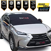 Windshield Snow Cover (Non-Scratch), ZACAR Windshield Cover with Mirror Covers for Winter, Blocking Snow, Sun, Fallen…