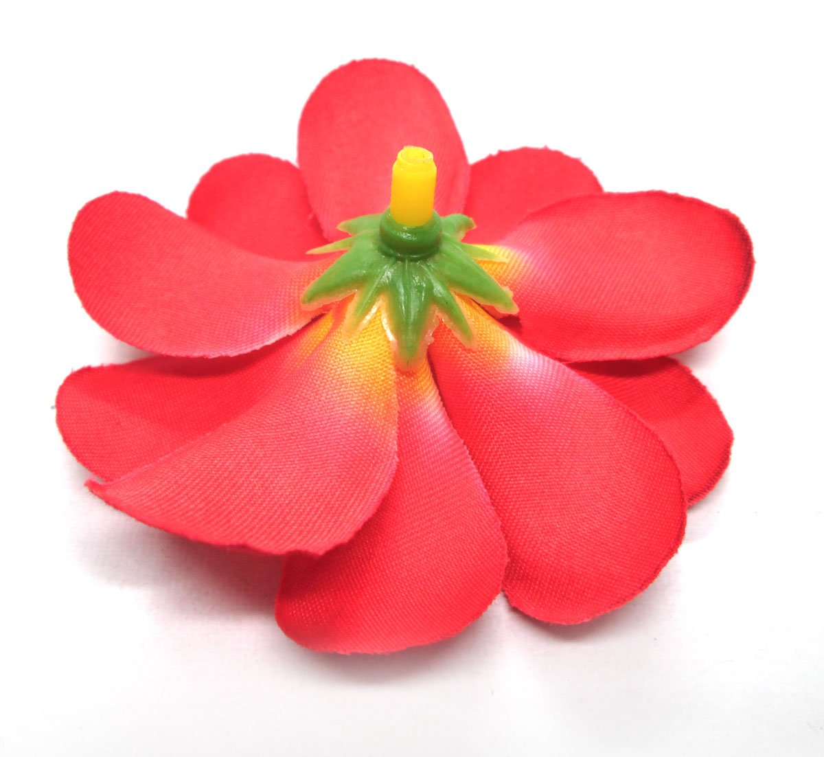 Make Silk Wedding Flowers: (100) Red Hawaiian Plumeria Frangipani Silk Flower Heads