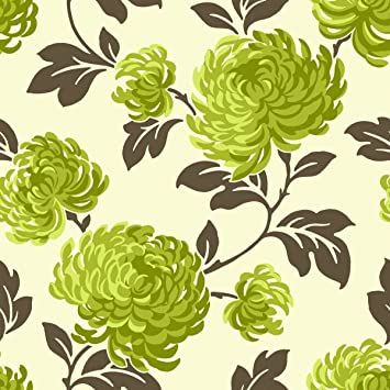 Green Brown Cream FD Bloom Fine Decor Wallpaper - Green and brown wallpaper