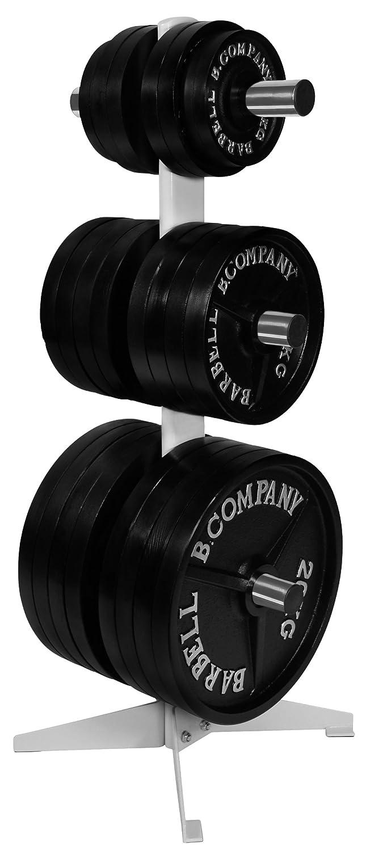 Oval-Line Hantelscheibenständer Hantel-Ablage 50 51mm - Maximale Gewichtsbelastung bis zu 280 Kg BCA-97