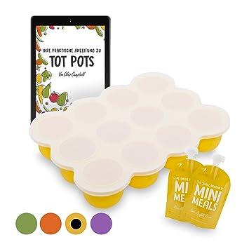 Tot Pots   Groß Silikon Babynahrung Aufbewahrung Behälter Zum Einfrieren  Babybrei Mit Silikondeckel + KOSTENLOSES 2