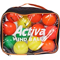 ACTIVA Wind_Ball Cricket Rubber Ball (Pack of 12, Multicolor)