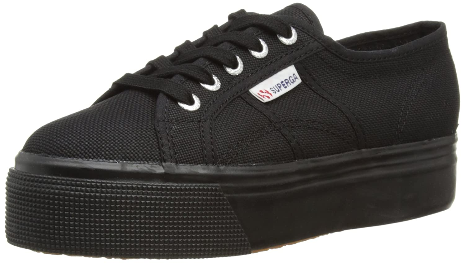 Superga 2790 Linea up and Down Womens Trainers B00JXN8VHE 5 M US|Black