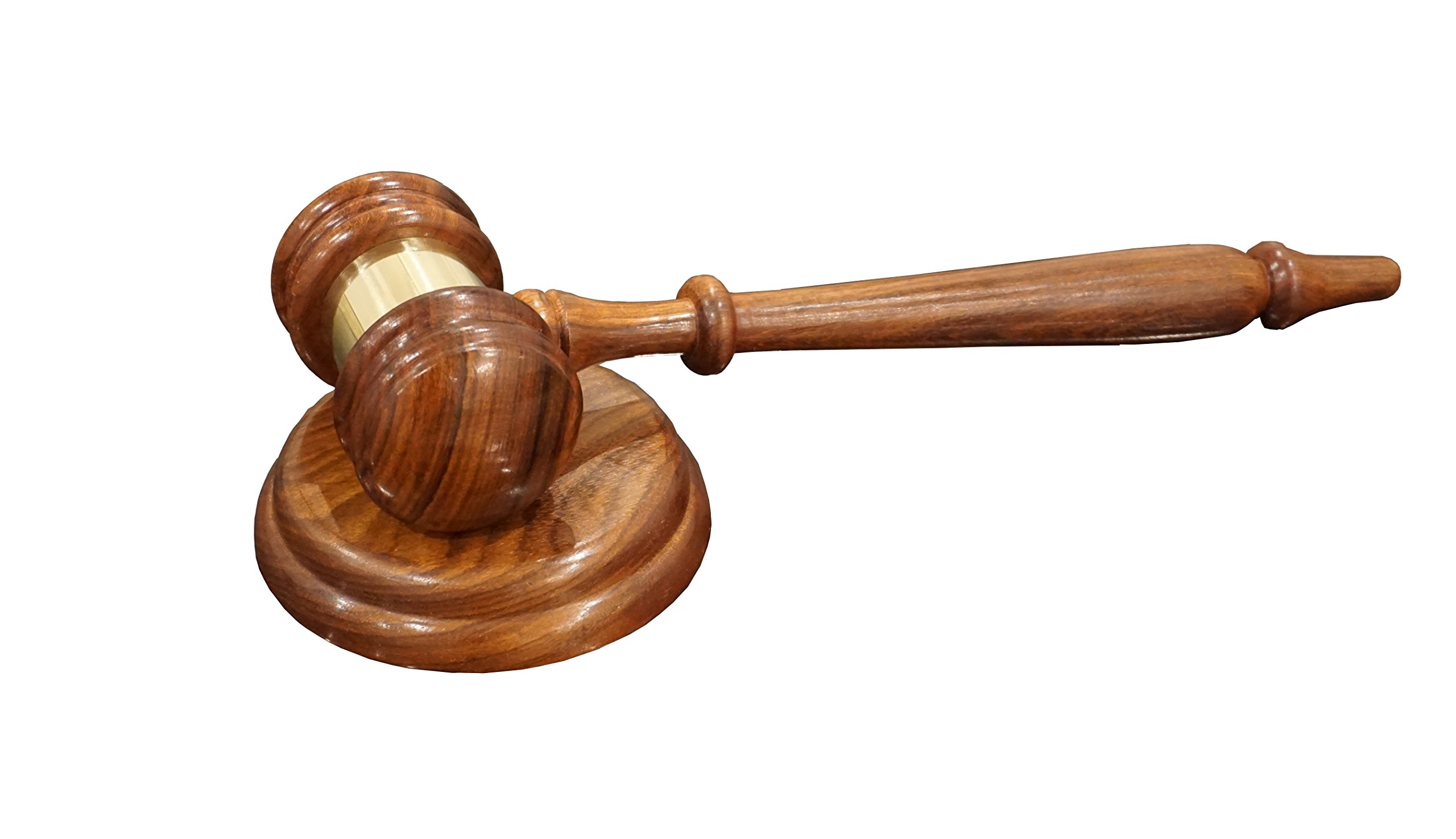 Premium Quality - Justice Gavels Wood Gavel and Sound Block for Judges, Lawyers, Auctions, and More.