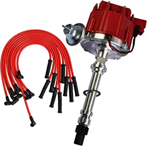 JDMSPEED New HEI Distributor With Spark Plug Wires Ignition Combo Kit For Chevy SBC 350 BBC 454