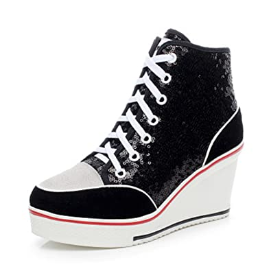 Robert Westbrook Womens Platform Shoes Genuine Leather Wedge Shoes Women Casual Shoe Ladies Trainers Large Size