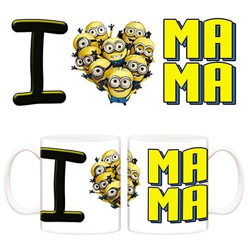 Taza I love mama con los Minions