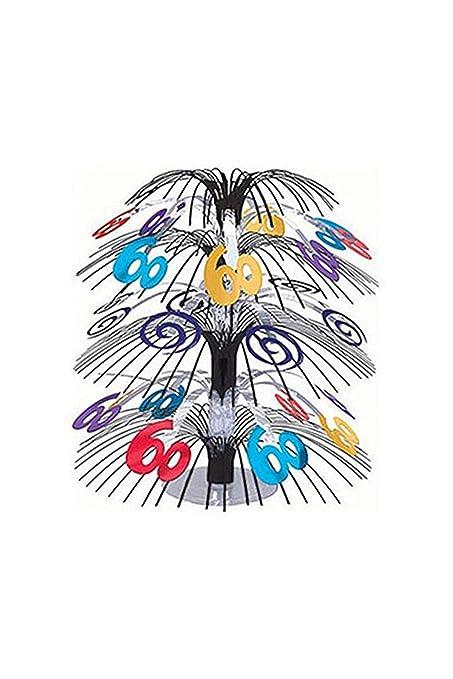 amscan - Centro de Mesa para 60 cumpleaños (45,7 cm), diseño ...
